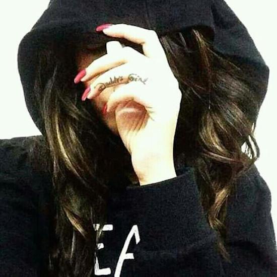 Girl stylish dp hide face