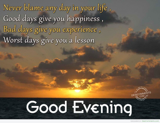 Good Evening Quotes